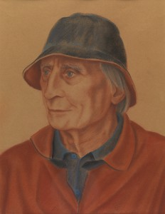 'Charles Fisher: Writer' conte pastel on paper, 50 x 40 cm (2003-04)