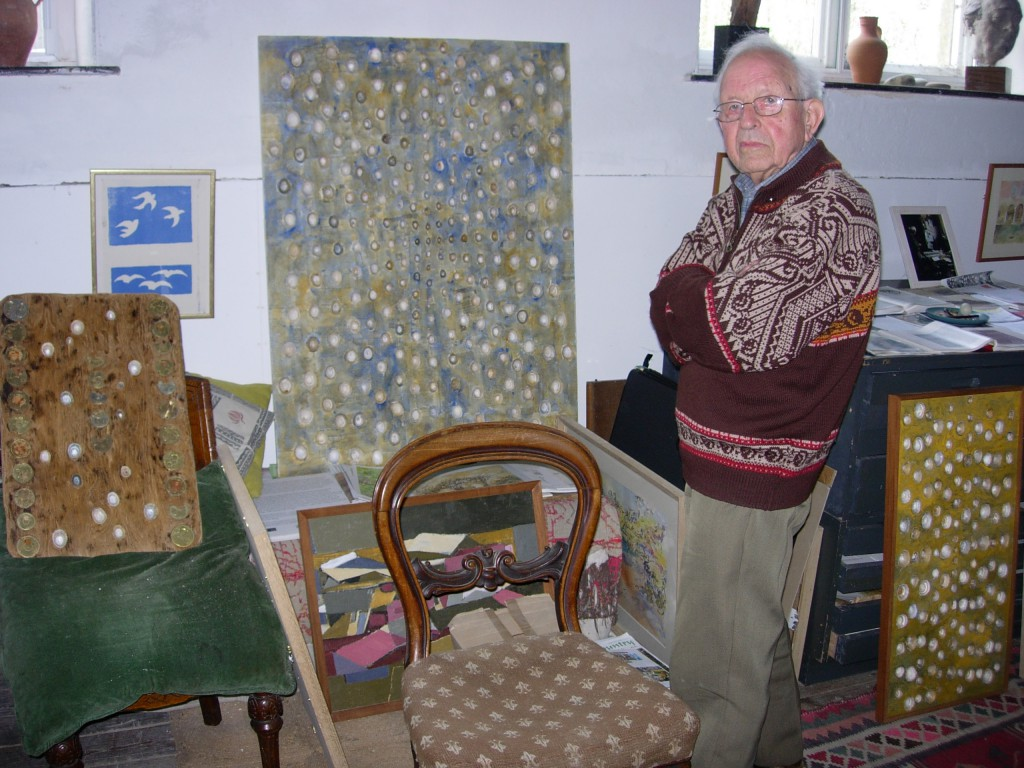 Arthur Giardelli in his gallery, Warren, Pembrokeshire, 6 April 2007