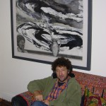 Alan Salisbury with one of his pictures, Barry, 21 September 2007