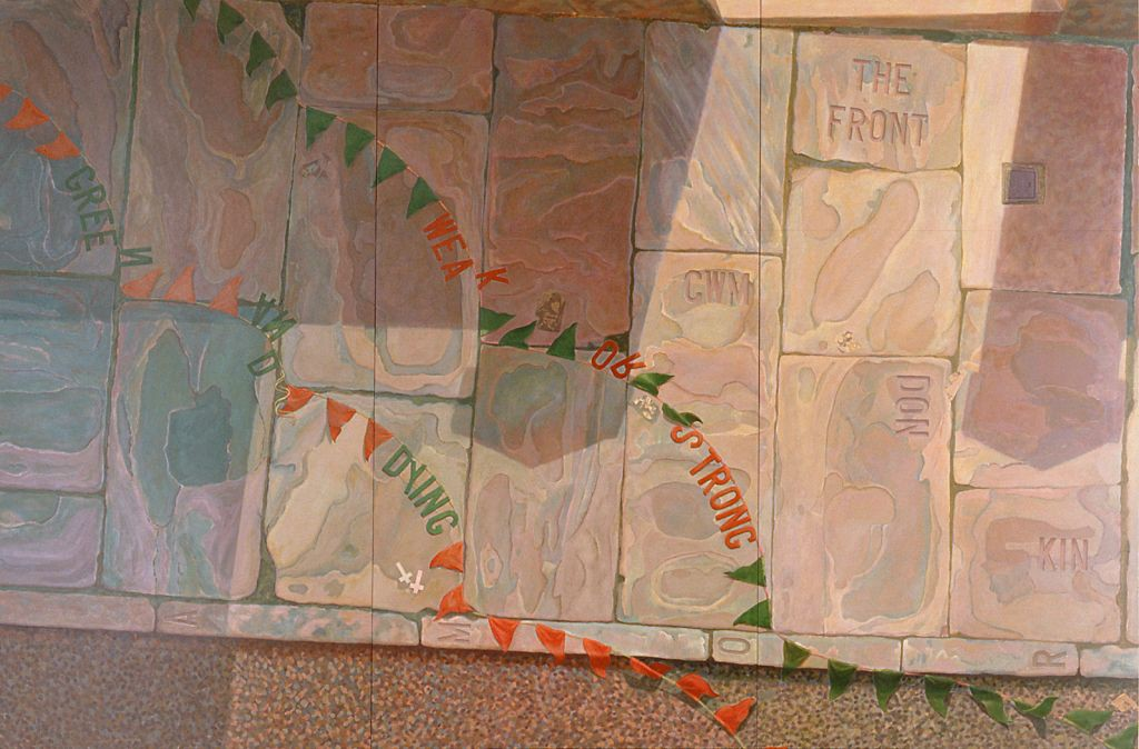 'Mo(u)rning over Cwmdonkin' acrylic on board, 244 x 366 cm (1997-98)