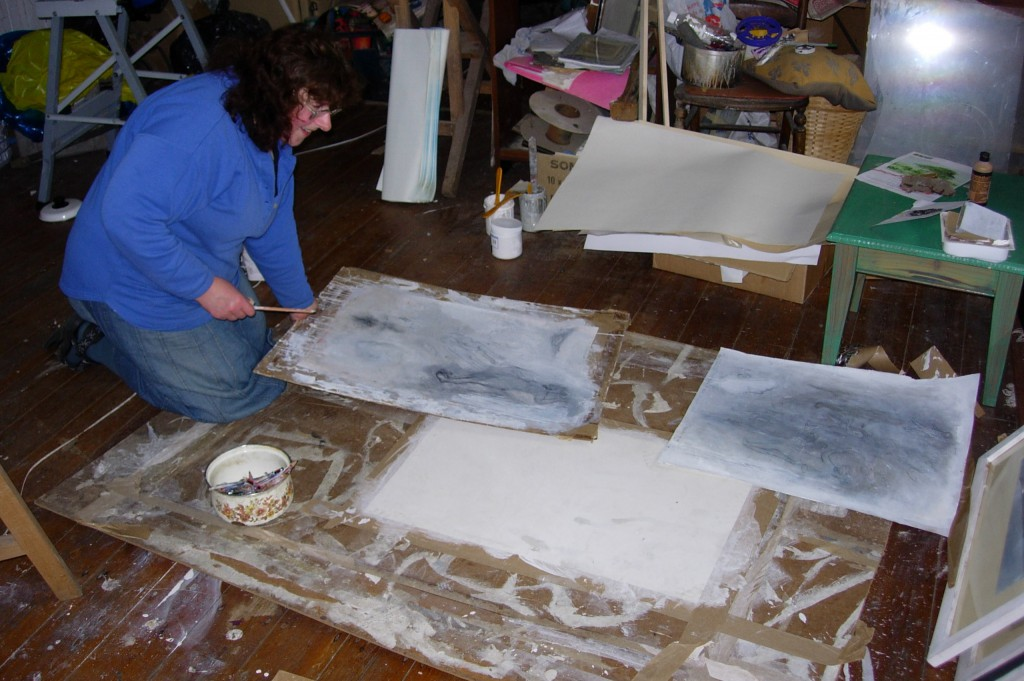 Heather Eastes in her studio, Goginan, 31 August 2007