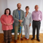 Ceri Thomas and Jane Hutt flanked by Heather Eastes and Ken Elias, Cardiff 2011