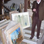 Ivor Davies in his studio, Penarth, 21 September 2009