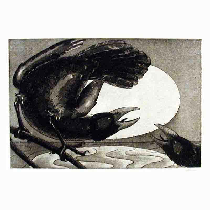 'Especially when the October wind' etching with aquatint on paper (2003)