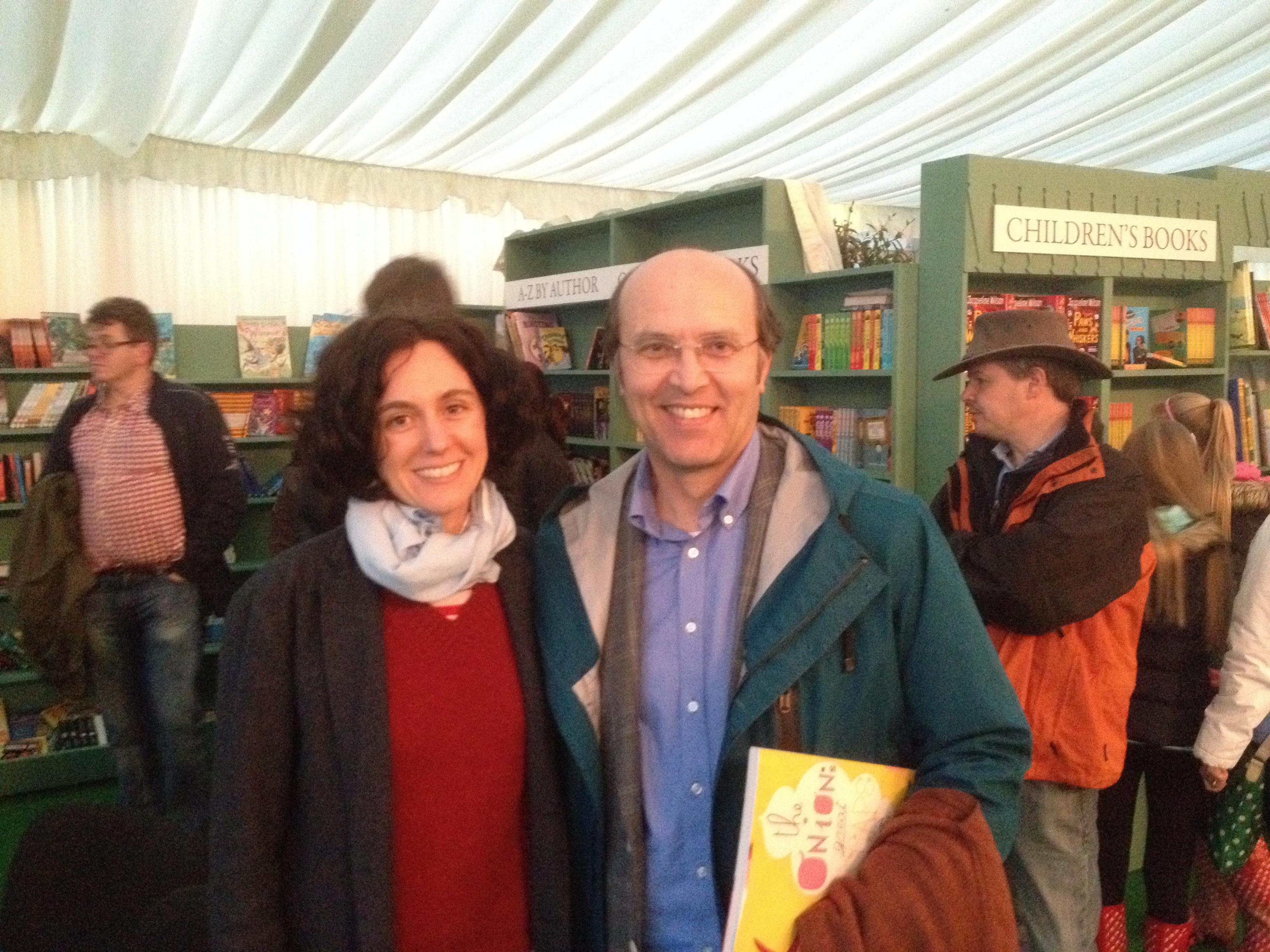 Twenty-four years on: Sara Fanelli and Ceri Thomas, Hay Festival, 2014