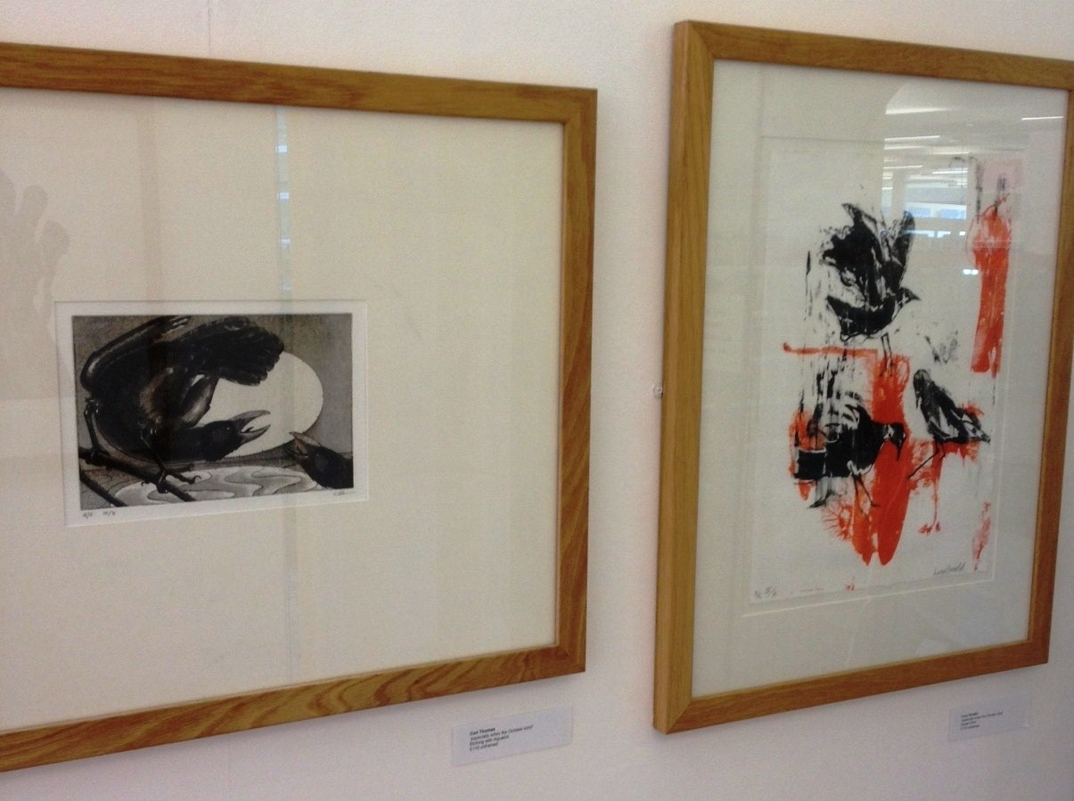 'Especially when the October Wind' prints by Ceri Thomas and Lucy Donald