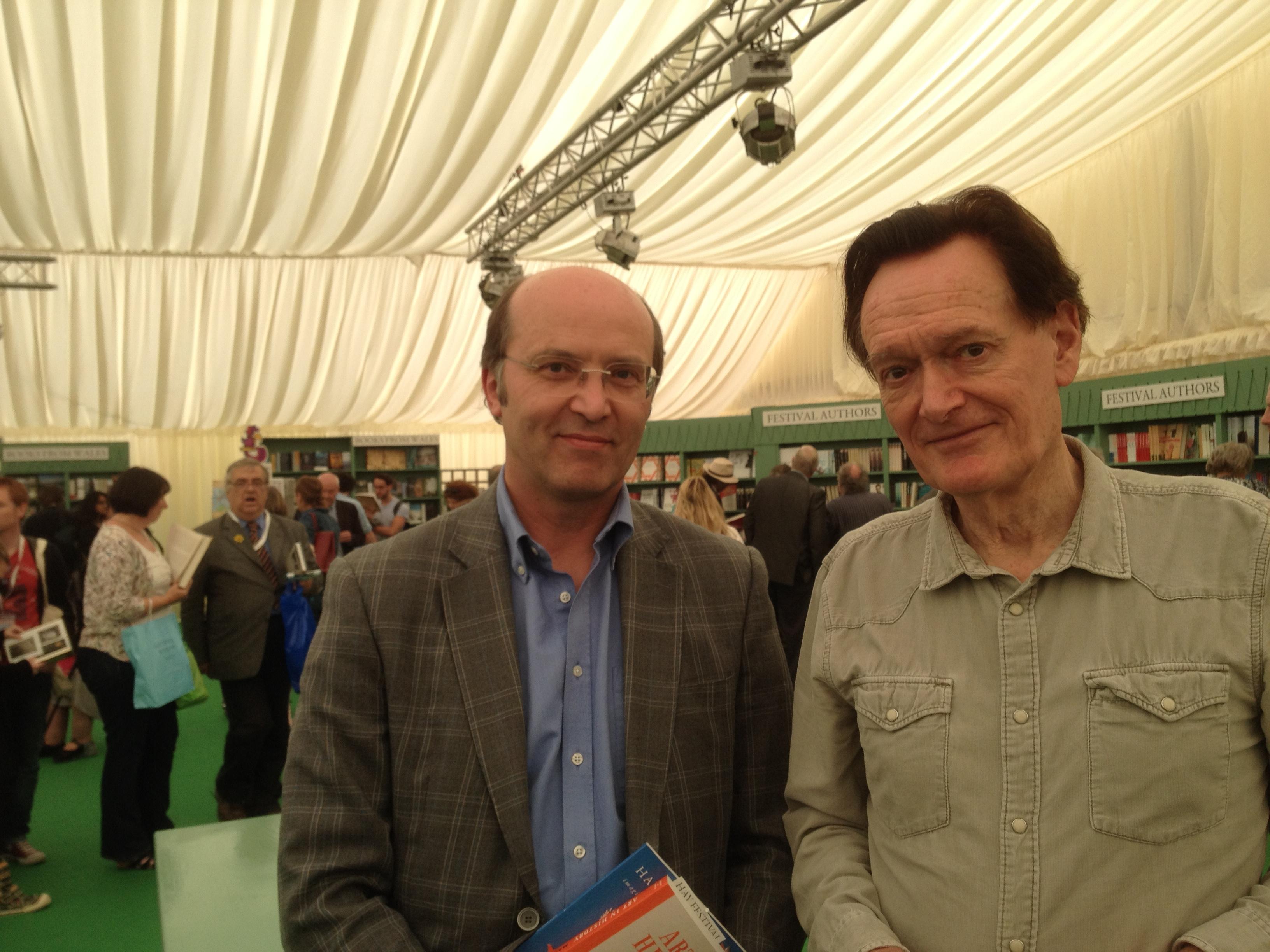 Thirty-four years on: Ceri Thomas and Leonardo expert Martin Kemp, Hay Festival, May 2015