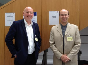 Paul Cabuts and Ceri Thomas, Arlis conference, Cardiff Metropolitan University 16 July 2015