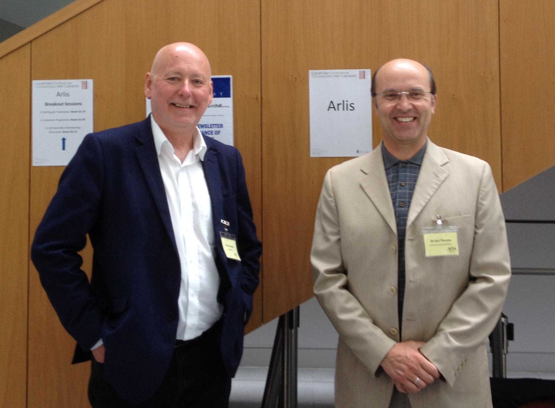 Paul Cabuts and Ceri Thomas, Arlis conference, Cardiff Metropolitan University 16 July 2015