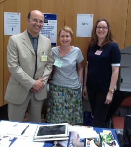 Ceri Thomas, Angharad Evans (USW) and Kristine Chapman (AC-NMW), Arlis conference, Cardiff Metropolitan University 16 July 2015