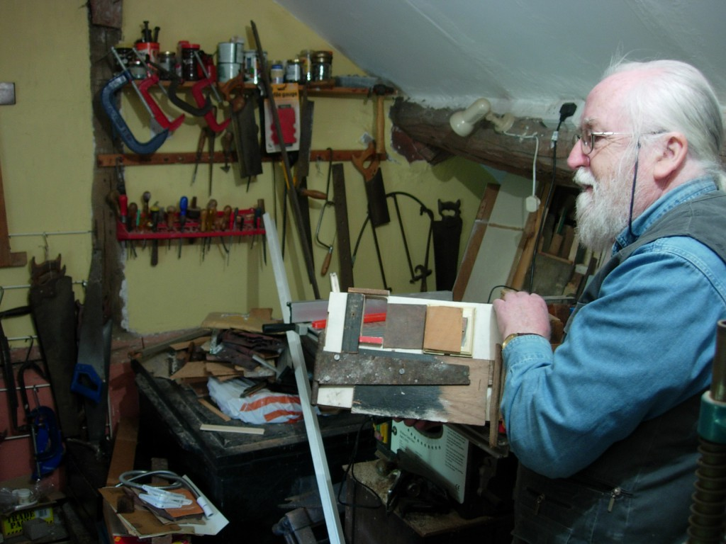 Islwyn Watkins in his studio, Knighton, 18 May 2008