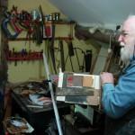 Islwyn Watkins in his studio, Knighton, 18 May 2008