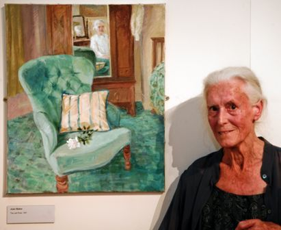 Joan Baker at her retrospective, National Library of Wales, Aberystwyth (10 July 2010)