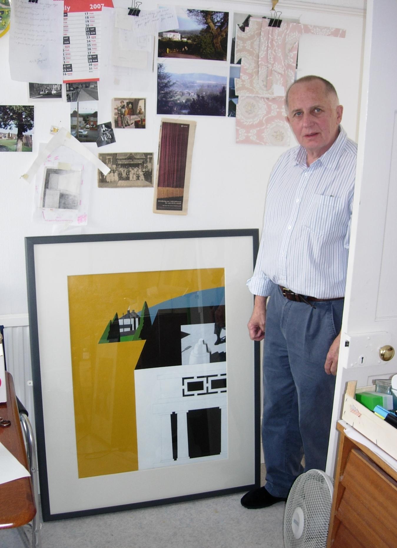 Ken Elias in his studio, Glynneath, 6 August 2007