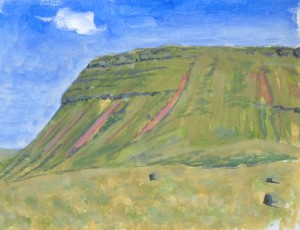 Llyn y Fan Fach, acrylic on paper (September 2014)