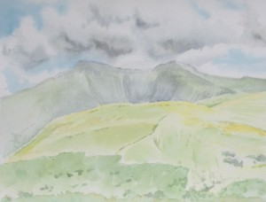 'Pen y Fan' watercolour on paper (2013)
