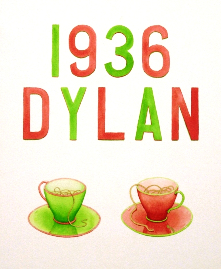 'Dylan 1914' watercolour on paper (2014)