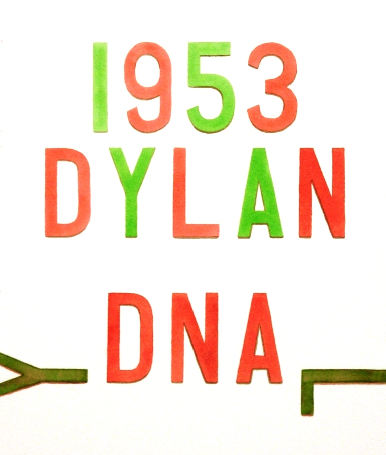 'Dylan 1953' watercolour on paper (2014)