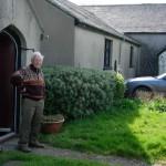 Arthur Giardelli outside his house, Warren, Pembrokeshire, 6 April 2007