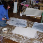 Heather Eastes in her studio, Goginan, 31 August 2007