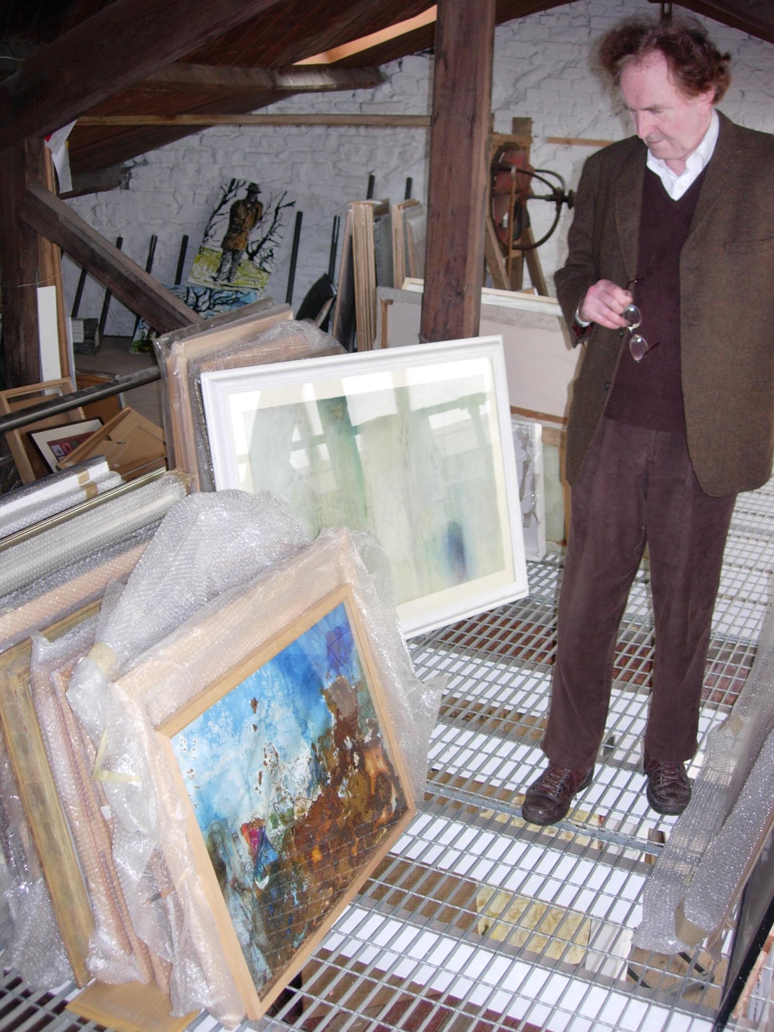 Ivor Davies in his studio, Penarth, 21 September 2009