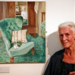 Joan Baker at her retrospective, National Library of Wales (17 July 2010)
