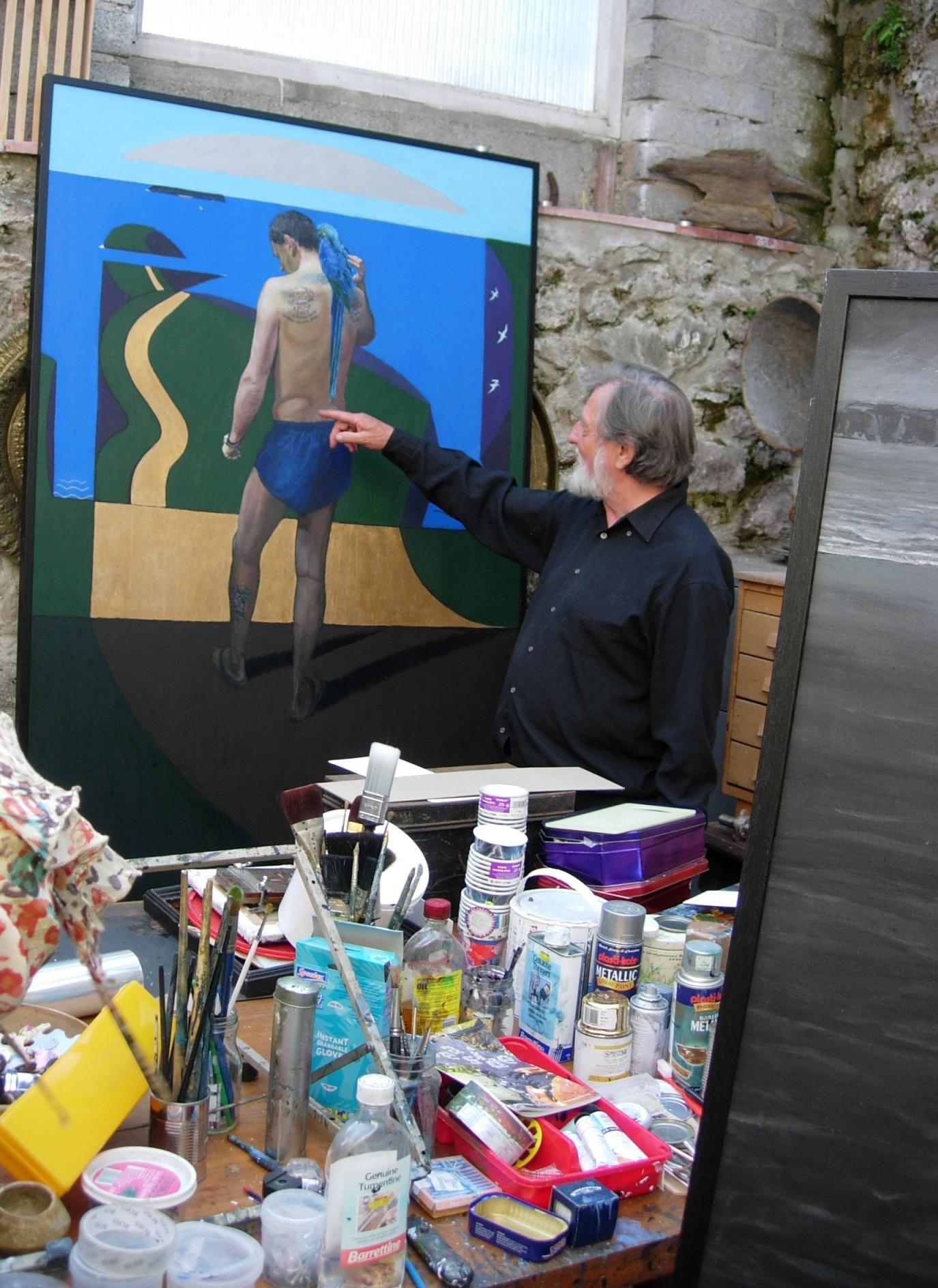 Philip Muirden in his studio, Milford Haven, 27 July 2007