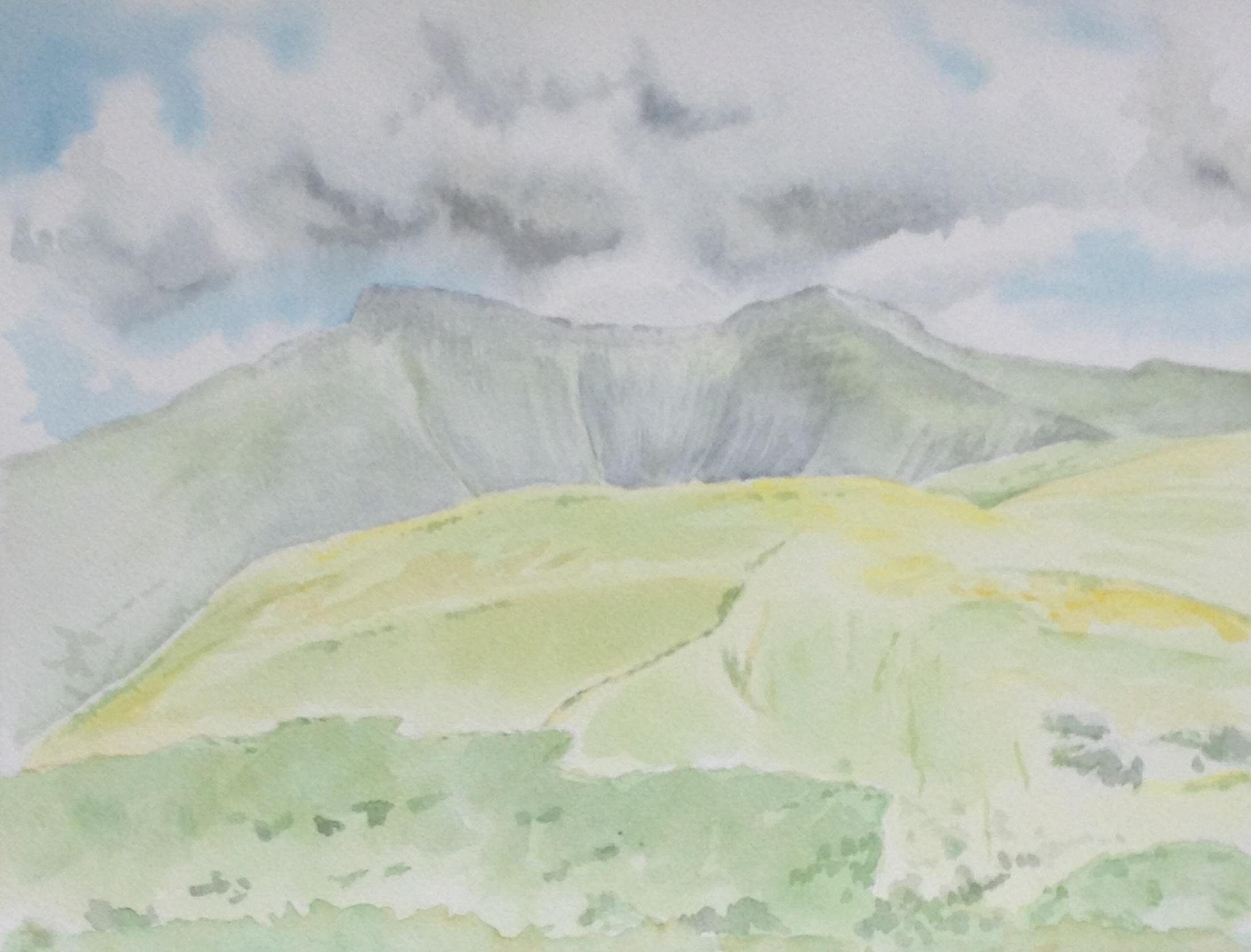 'Pen y Fan' watercolour on paper (2013)