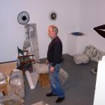 Robert Harding in his sculpture studio, Llantrisant, 26 November 2007