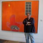 Ray Klimek with an Ernest Zobole painting, Zobole Gallery 2006